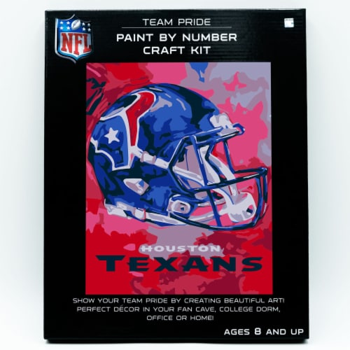 NFL Houston Texans Team Pride Paint by Number Craft Kit Perspective: front