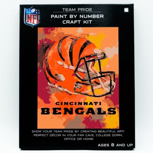 NFL Cincinnati Bengals Team Pride Paint by Number Craft Kit Perspective: front