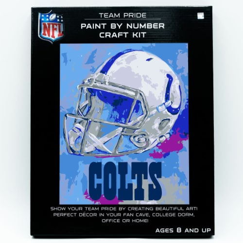 NFL Indianapolis Colts Team Pride Paint by Number Craft Kit Perspective: front