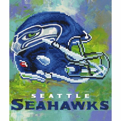 Seattle Seahawks NFL Team Pride Diamond Painting Craft Kit Perspective: front