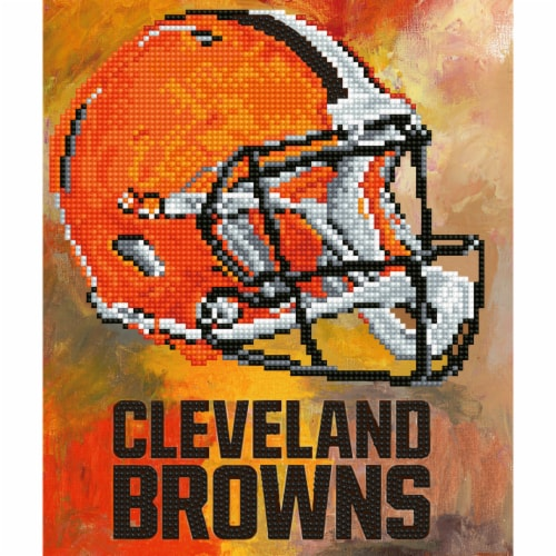 Cleveland Browns NFL Team Pride Diamond Painting Craft Kit Perspective: front