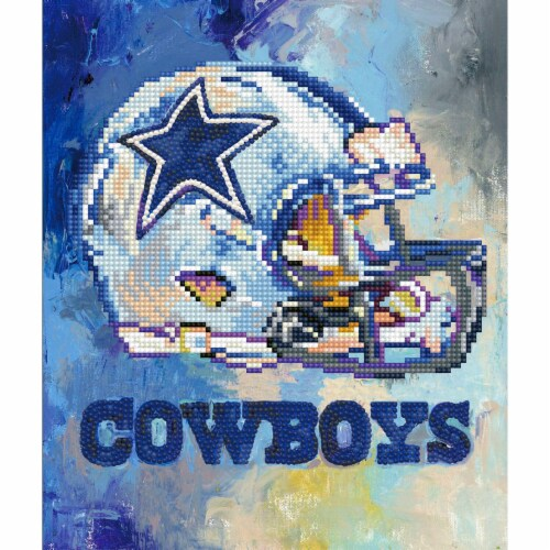 Dallas Cowboys NFL Team Pride Diamond Painting Craft Kit Perspective: front