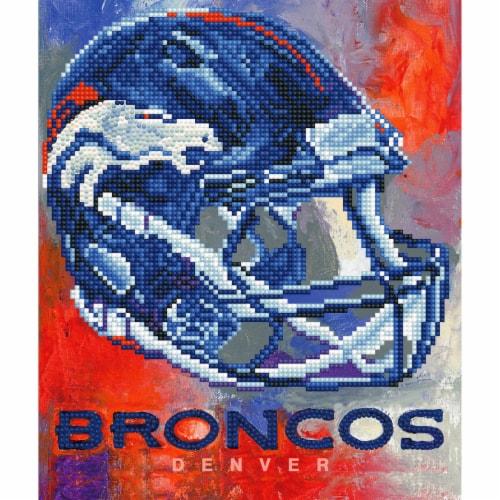 Denver Broncos NFL Team Pride Diamond Painting Craft Kit Perspective: front
