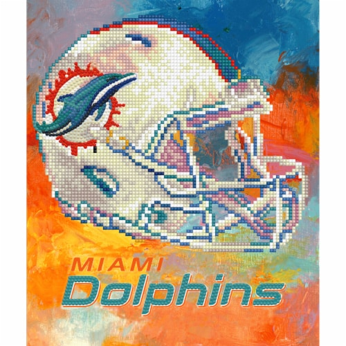 Miami Dolphins NFL Team Pride Diamond Painting Craft Kit Perspective: front