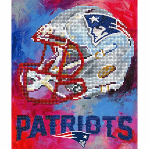 New England Patriots NFL Team Pride Diamond Painting Craft Kit Perspective: front