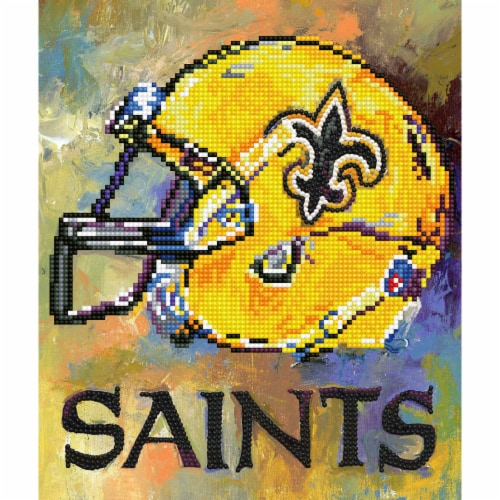 New Orleans Saints NFL Team Pride Diamond Painting Craft Kit Perspective: front