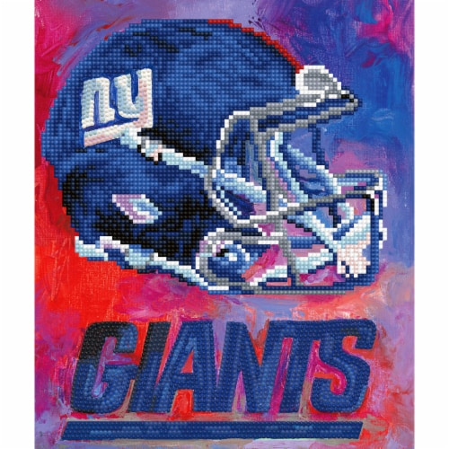 New York Giants NFL Team Pride Diamond Painting Craft Kit Perspective: front