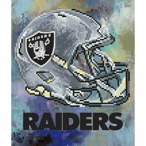 Las Vegas Raiders NFL Team Pride Diamond Painting Craft Kit Perspective: front