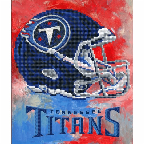 Tennessee Titans NFL Team Pride Diamond Painting Craft Kit Perspective: front