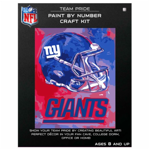 NFL New York Giants Team Pride Paint by Number Craft Kit Perspective: front