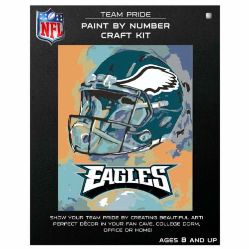 NFL Philadelphia Eagles Team Pride Paint by Number Craft Kit Perspective: front