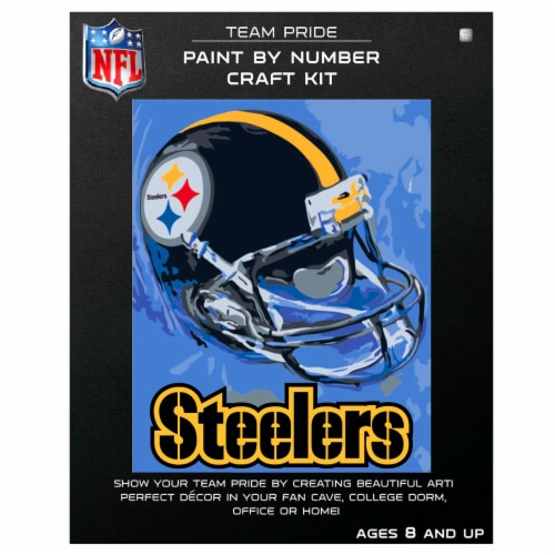 NFL Pittsburgh Steelers Team Pride Paint by Number Craft Kit Perspective: front