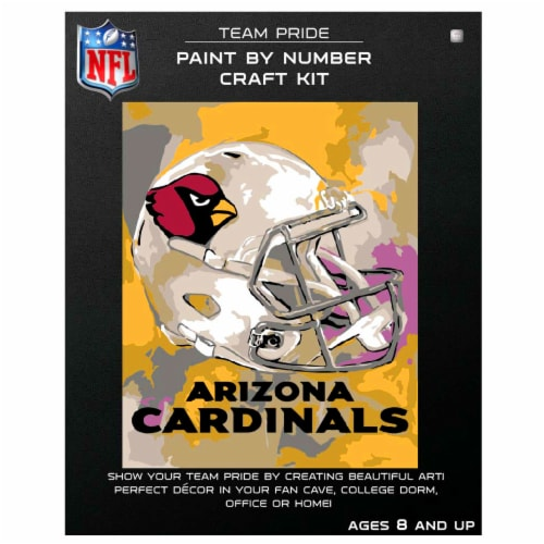 NFL Arizona Cardinals Team Pride Paint by Number Craft Kit Perspective: front