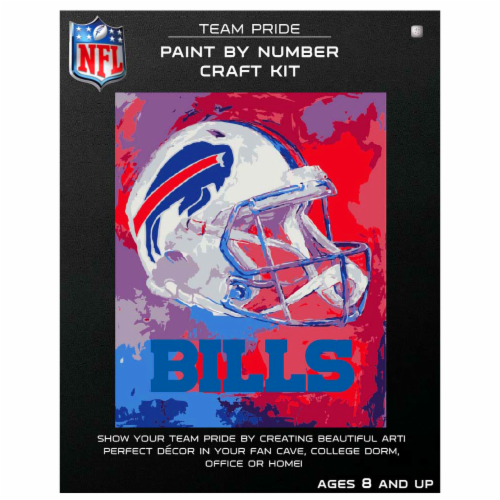 NFL Buffalo Bills Team Pride Paint by Number Craft Kit Perspective: front