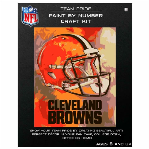 NFL Cleveland Browns Team Pride Paint by Number Craft Kit Perspective: front