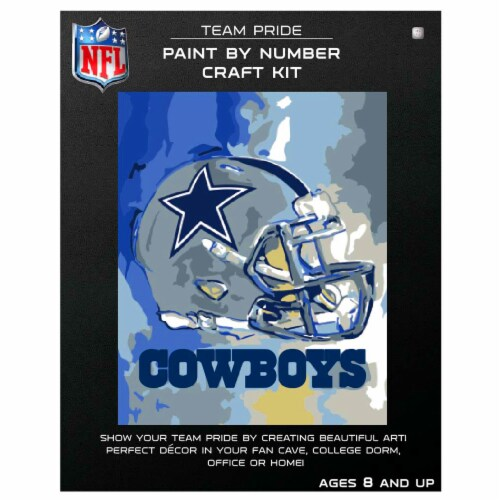NFL Dallas Cowboys Team Pride Paint by Number Craft Kit Perspective: front