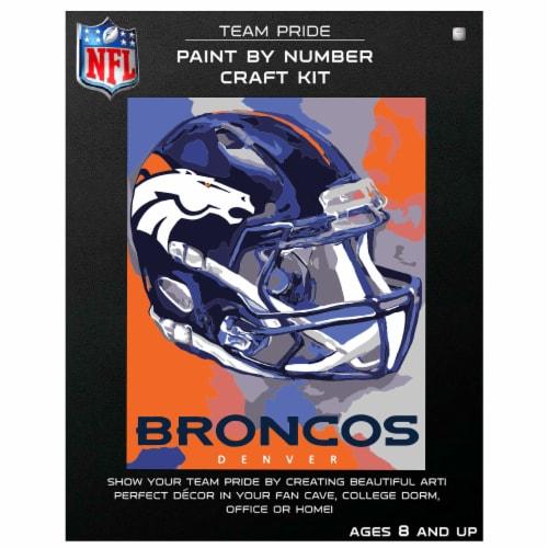 NFL Denver Broncos Team Pride Paint by Number Craft Kit Perspective: front