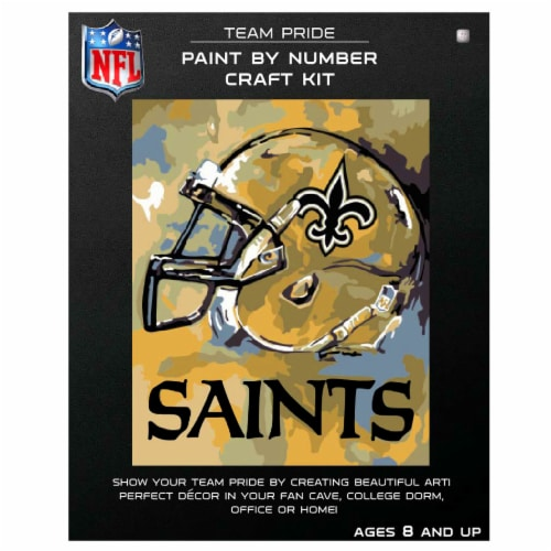 NFL New Orleans Saints Team Pride Paint by Number Craft Kit Perspective: front