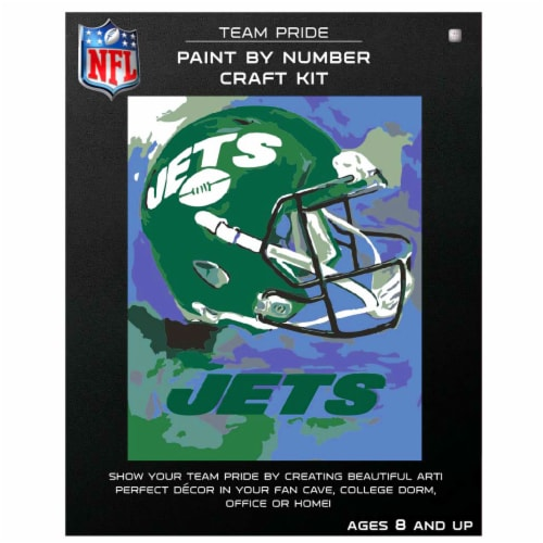 NFL New York Jets Team Pride Paint by Number Craft Kit Perspective: front