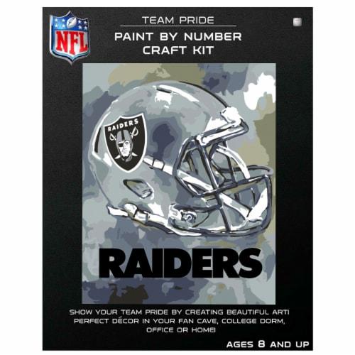 NFL Las Vegas Raiders Team Pride Paint by Number Craft Kit Perspective: front