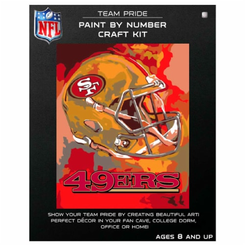 NFL San Francisco 49ers Team Pride Paint by Number Craft Kit Perspective: front