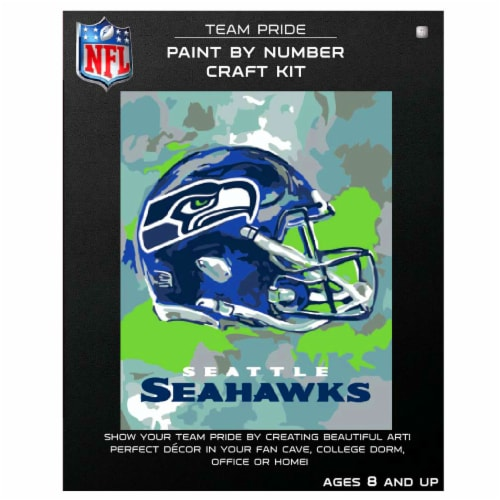 NFL Seattle Seahawks Team Pride Paint by Number Craft Kit Perspective: front