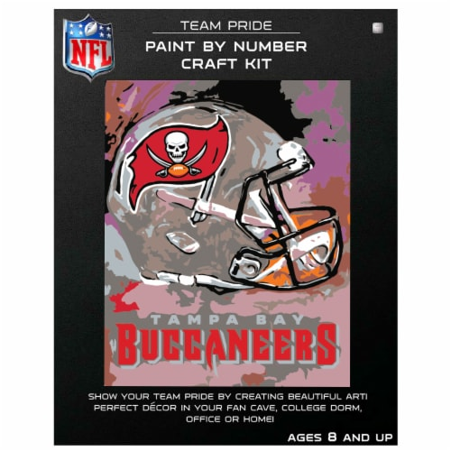 NFL Tampa Bay Buccaneers Team Pride Paint by Number Craft Kit Perspective: front