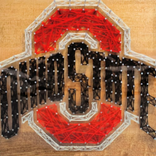 Ohio State Buckeyes Team Pride String Art Craft Kit Perspective: front