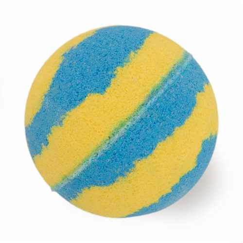 Cosset Suds of Fun Bath Bomb - Blue/Yellow Perspective: front