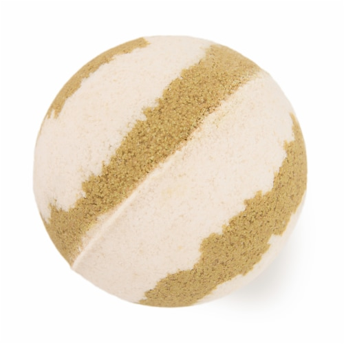 Cosset Tahitian Vanilla Bath Bomb - Tan/White Perspective: front