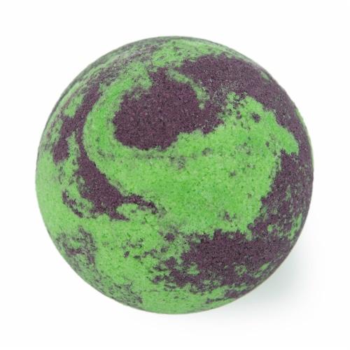 Cosset Luna Bath Bomb - Purple/Green Perspective: front