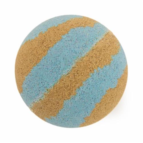 Cosset Mr. Sandman Bath Bomb - Gold/Blue Perspective: front