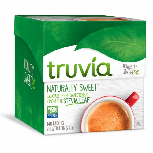 Truvia Stevia Leaf Naturally Sweet Calorie-Free Sweetener Perspective: front