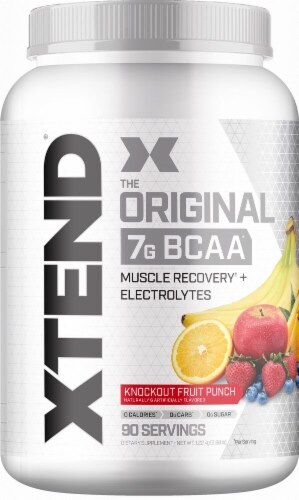 Xtend  The Original BCAA   Knockout Fruit Punch Perspective: front