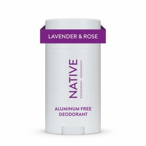 Native Lavender & Rose Paraben & Aluminum Free Deodorant Perspective: front