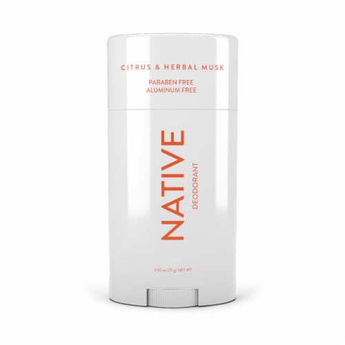 Native Citrus & Herbal Musk Paraben and Aluminum Free Deodorant Perspective: front