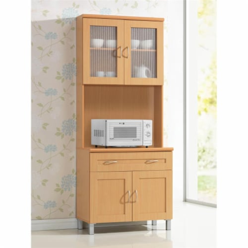 Kitchen Cabinet in Beech Brown - Hodedah Perspective: front