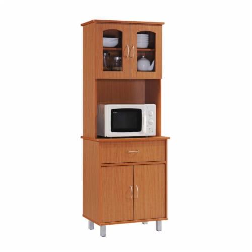 Hodedah HIK94 CHERRY Kitchen Cabinet Perspective: front