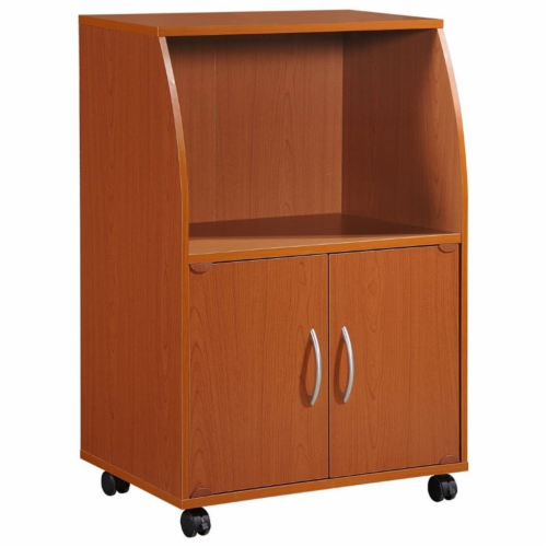 Hodedah HIK74 CHERRY Microwave Cart Perspective: front