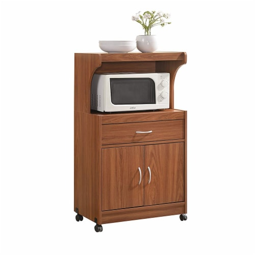 Hodedah HIK72 CHERRY Microwave Cart - Cherry Perspective: front