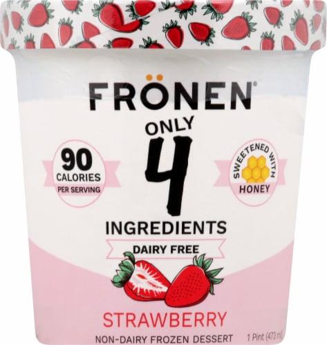 Fronen Strawberry Non-Dairy Frozen Dessert Perspective: front