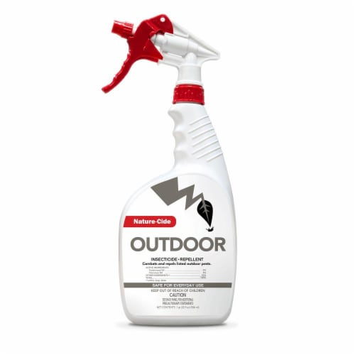 Nature-Cide Outdoor Insecticide & Repellent - Natural Roach, Spider, Mosquito, Ant Spray Perspective: front