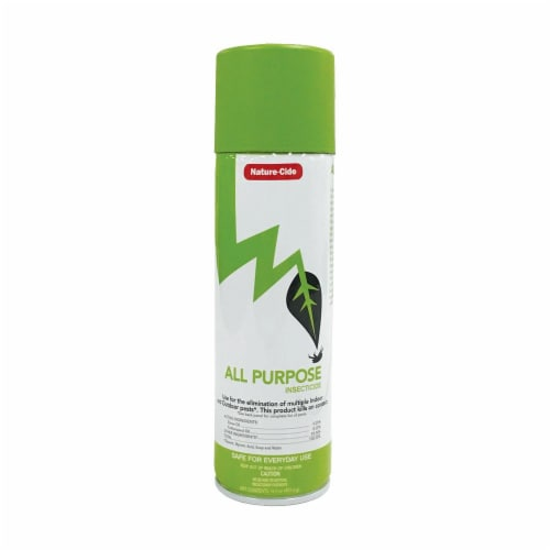 Nature-Cide All-Purpose Aerosol Can Insecticide - Natural Roach, Spider, Mosquito, Ant Spray Perspective: front