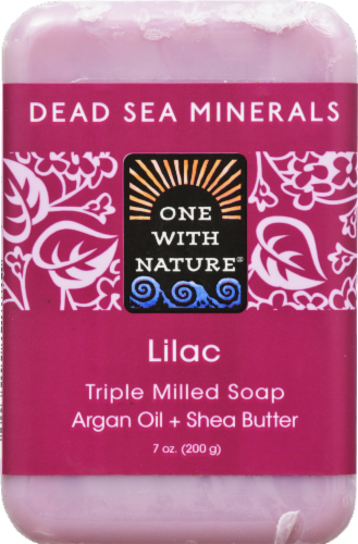One With Nature Dead Se Minerals Lilac Soap Perspective: front