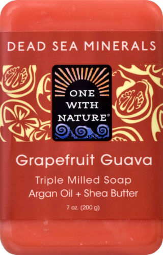 One With Nature Dead Sea Minerals Grapefruit Guava Soap Perspective: front