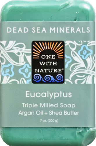 One With Nature Dea Sea Minerals Eucalyptus Soap Perspective: front