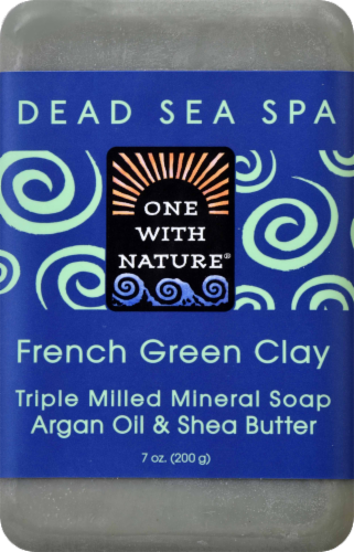 One With Nature French Green Clay Soap Perspective: front