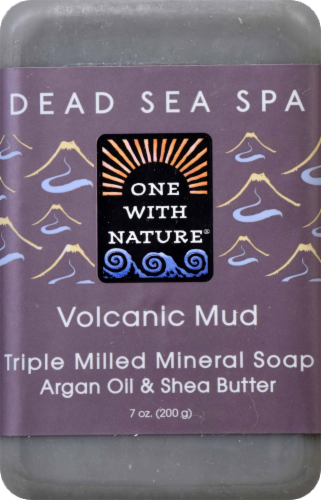 One With Nature Volcanic Mud Soap Perspective: front