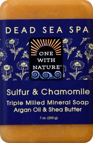 One With Nature Sulfur & Chamomile Soap Perspective: front