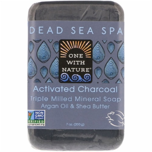 One With Nature Activate Charcoal Bar Soap Perspective: front